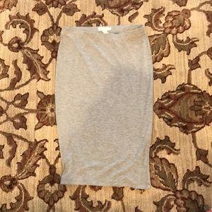 Dresses & Skirts - Simple heather grey pencil skirt